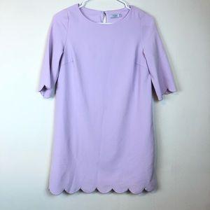 Tobi Scallop Lavender Lilac Mini Dress Size XS